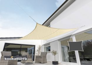 Kookaburra® 3,0m Vierkant Zand Party Schaduwdoek (Geweven - Waterafstotend)