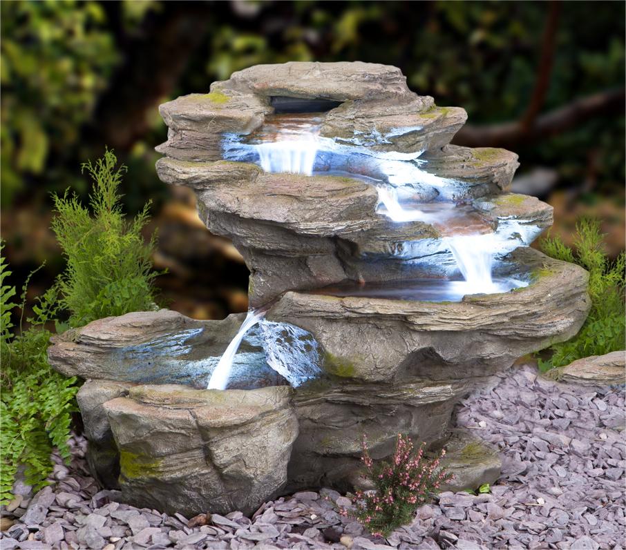 Ogen Rivier Vier Lagen Waterval met LED verlichting €369,99