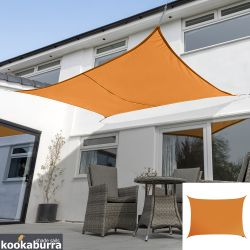 Kookaburra® 6,0mx5,0m Rechthoek Oranje Party Schaduwdoek (Geweven - Waterafstotend)