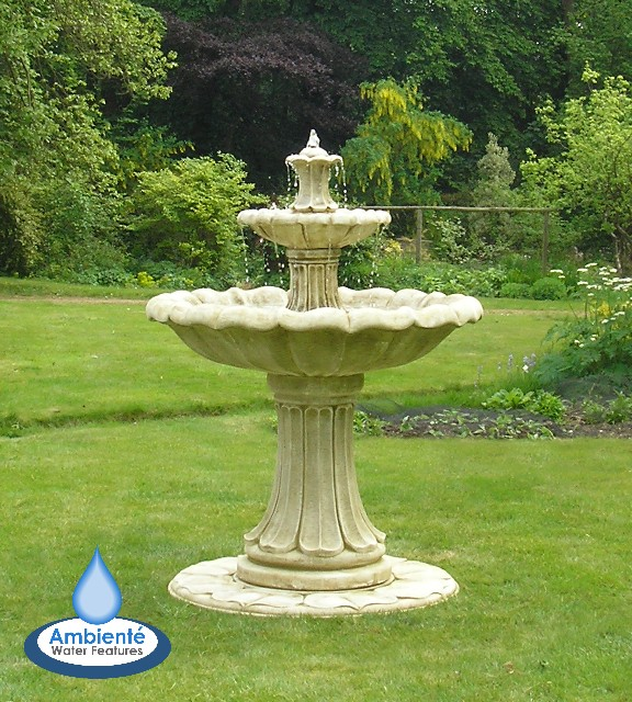 Tuin Ornament Fontein.Klassieke Stenen Fontein Hoge Twee Laags