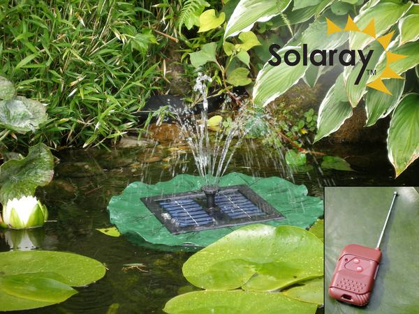 waterlelie fontein met afstandsbediening op zonne energie met led verlichting