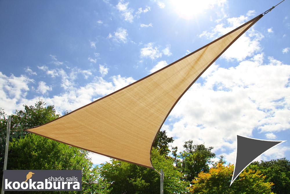 kookaburra 4 2 x 4 2 x 6 0m rechthoekige driehoek zand luchtdoorlatend party schaduwdoek. Black Bedroom Furniture Sets. Home Design Ideas