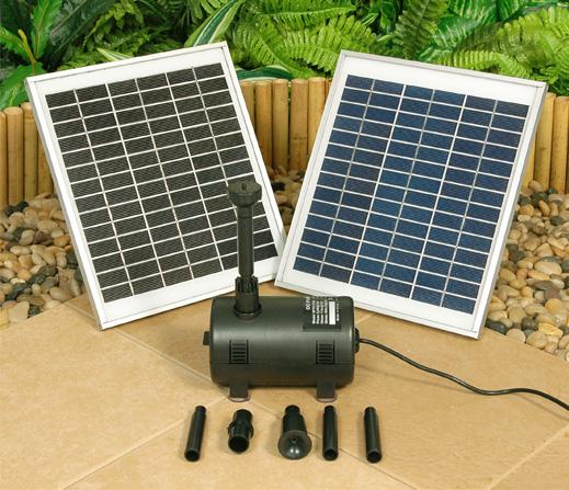Solar Waterpompset - 1550L/u met Witte LED-verlichting € 199,99