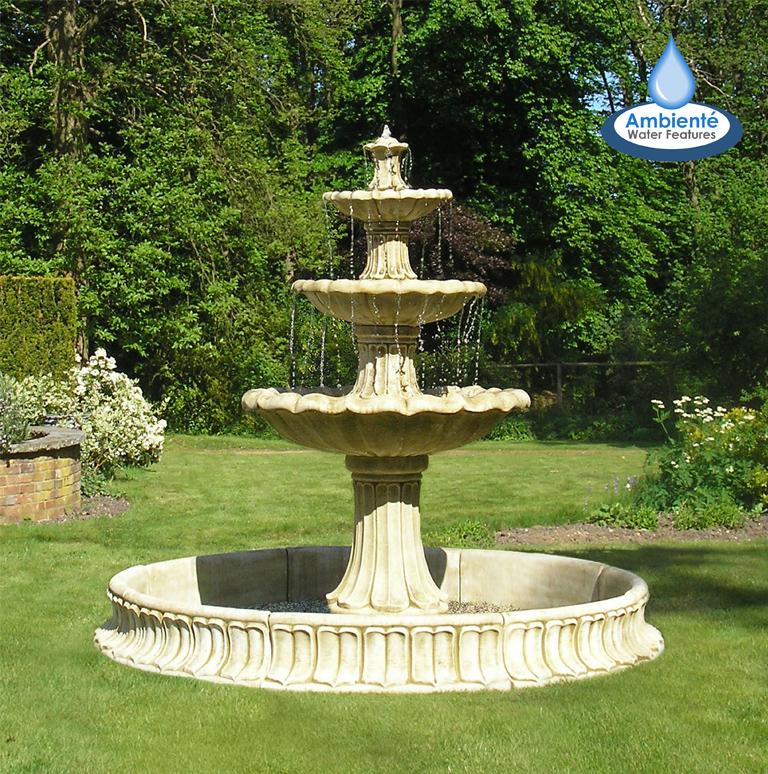 Klassieke stenen fontein drie laags for Fuentes decorativas de jardin
