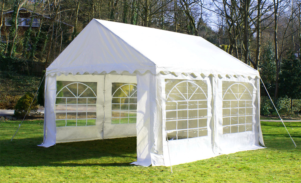 4m x 4m luxe feesttent partytent 489 99. Black Bedroom Furniture Sets. Home Design Ideas