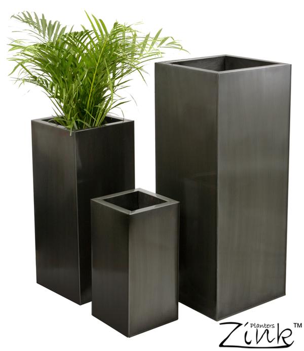 Grote Plantenbak Binnen.Hoge Vierkante Zinken Plantenbak Klein 32 99