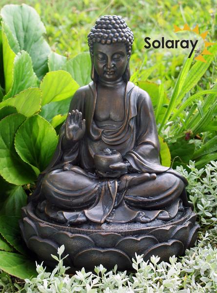 Boeddha Fontein Voor Buiten.Ariya Buddha Fontein Op Zonne Energie