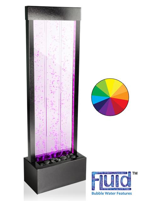 bubbelwand met led verlichting en afstandsbediening h122m