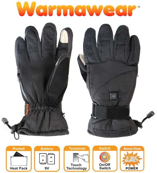"Warmawear™ ""Dual Fuel"" en ""Burst Power"" Deluxe Verwarmde Handschoenen op Batterijen - 3 Warmtestanden"