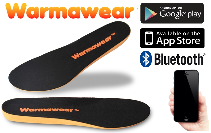 Warmawear™ Herlaadbare Waterproof Bluetooth Inlegzolen