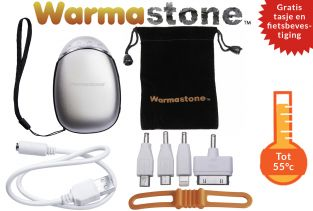 Warmastone™ Oplaadbare Handverwarmer / Zaklamp / Fietslamp / Powerbank