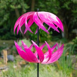 Campion Ribbon Tuin Windmolen in Fuchsia van Primrose™ - diameter 58cm