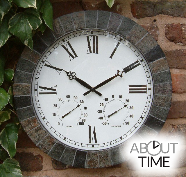 Grote Leisteen-Effect Tuinklok - 45cm -  About Time™