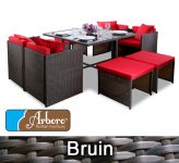 "Arboro™ ""Beaumont"" - Wicker 8 Zits Kubus-set Bruin"