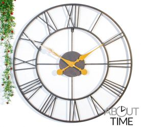 Open Antieke Metalen Tuinklok - 76cm - About Time™