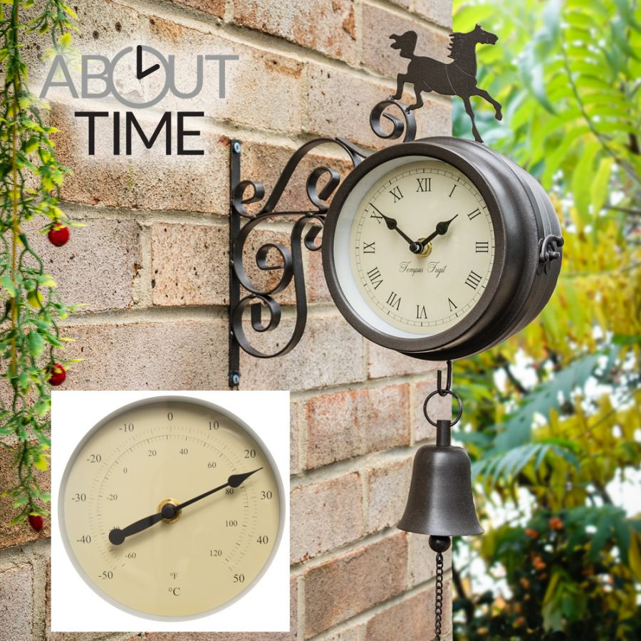 Paard en Bel Klok met Thermometer - About Time™
