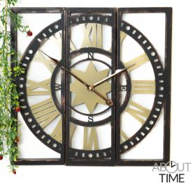 World Site Driedelige Metalen Tuinklok van About Time™ - 40cm