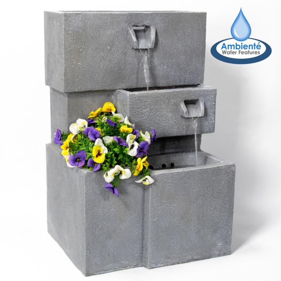 Fontein Met Plantenbak.Moderne Bakken Fontein Met Plantenbak