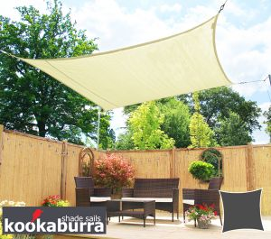 Kookaburra® 3,0m Vierkant Polar Wit Gebreid Party Schaduwdoek (Gebreid 185g)