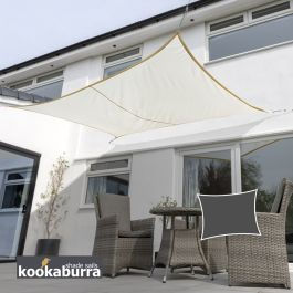 Kookaburra® 4,0mx3,0m Rechthoek Ivoor Party Schaduwdoek (Geweven - Waterafstotend)