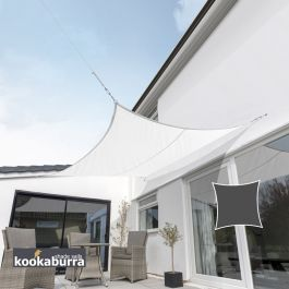 Kookaburra® 3,0m Vierkant Ivoor Party Schaduwdoek (Geweven - Waterafstotend)