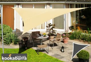 Kookaburra® 3,6m Driehoek Zand Party Schaduwdoek (Geweven - Waterafstotend)