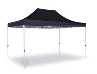 Hybrid Plus, Pop Up Staal/Aluminium Vouwtent - Zwart -  3m x 4,5m