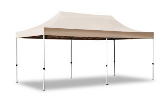 Hybrid Plus, Pop Up Staal/Aluminium Vouwtent - Beige - 3m x 6m