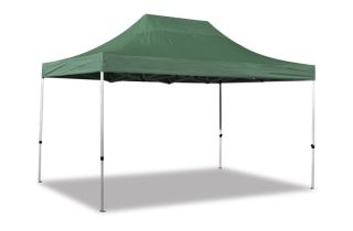 Hybrid Plus, Pop Up Staal/Aluminium Vouwtent - Groen -  3m x 4,5m