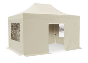 Hybrid Plus, Pop Up Staal/Aluminium Vouwtent Set - Zand - 3m x 4,5m