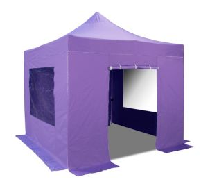 Hybrid, Pop Up Staal/Aluminium Vouwtent Set - Lila - 3m x 3m