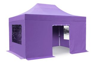 Hybrid, Pop Up Staal/Aluminium Vouwtent Set - Lila - 3m x 4,5m