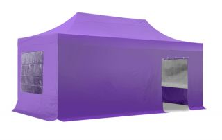 Hybrid, Pop Up Staal/Aluminium Vouwtent Set - Lila - 3m x 6m