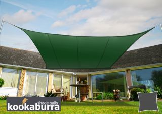 Kookaburra® 3,0m Vierkant Groen Party Schaduwdoek (Geweven - Waterafstotend)