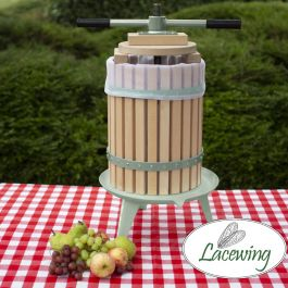 Easy Press™ Appel / Fruit / Sap / Cider Pers van Lacewing™ met Dubbele Handgreep - 18 Liter, 3 Jaar Garantie