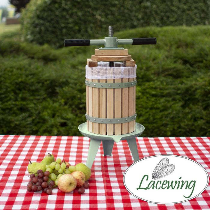 Easy Press™ Appel / Fruit / Sap / Cider Pers van Lacewing™ met Dubbele Handgreep - 6 Liter, 3 Jaar Garantie