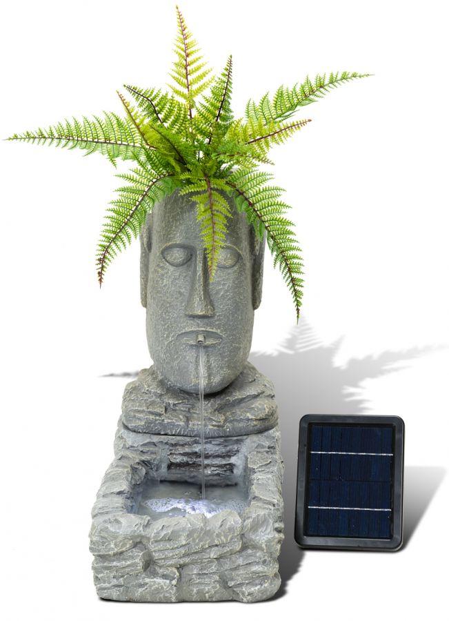 Paaseiland Plantenbak Solar Fontein met Led Verlichting van Solaray ...