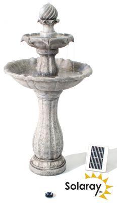 Imperial Gestapelde Fontein op Zonne-energie van Solaray™ - met LED ...