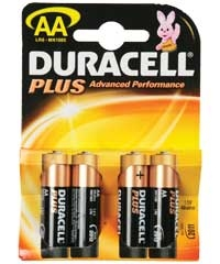 4 Pack  Duracell AA Plus Batterijen