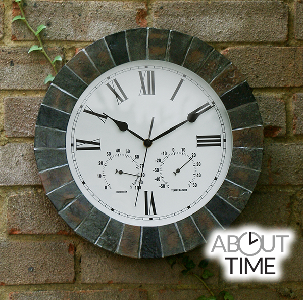 Kleine Leisteen-Effect Tuinklok - 35cm - About Time™