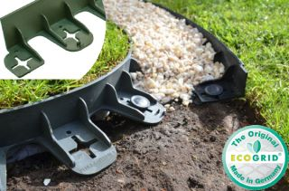 20 x 80cm Flexible Garden Edging in Green - H4.5cm by EcoGrid™