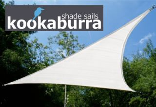 Kookaburra® 3,6m Driehoek Polar Wit Gebreid Party Schaduwdoek (Gebreid 185g)