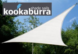 Kookaburra® 5,0m Driehoek Polar Wit Gebreid Party Schaduwdoek (Gebreid 185g)