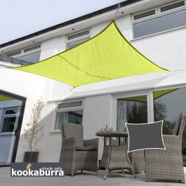 Kookaburra® 5,0mx4,0m Rechthoek Limoen Party Schaduwdoek (Geweven - Waterafstotend)