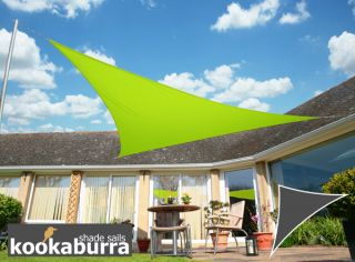 Kookaburra® 3,6m Driehoek Limoen Party Schaduwdoek (Geweven - Waterafstotend)