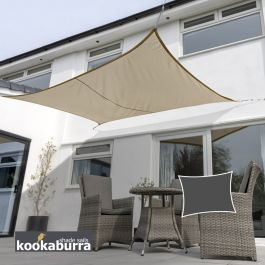 Kookaburra® 5,0mx4,0m Rechthoek Mokka Party Schaduwdoek (Geweven - Waterafstotend)