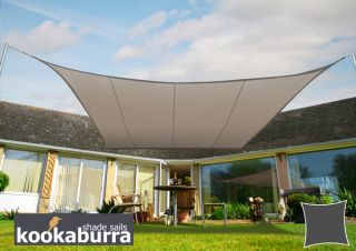 Kookaburra® 3,0m Vierkant Beige Party Schaduwdoek (Geweven - Waterafstotend)
