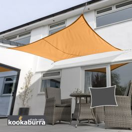 Kookaburra® 5,0mx4,0m Rechthoek Oranje Party Schaduwdoek (Geweven - Waterafstotend)