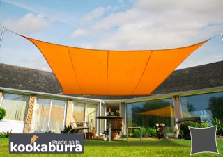 Kookaburra® 3,0m Vierkant Oranje Party Schaduwdoek (Geweven - Waterafstotend)