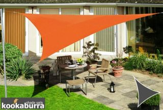 Kookaburra® 3,6m Driehoek Oranje Party Schaduwdoek (Geweven - Waterafstotend)